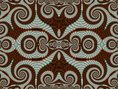 Symmetrical Pattern from Spiral fractal. Gray and brown palette. — Stock Photo