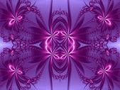 Flower pattern in fractal design. Violet and purple palette. Com — Stock Photo