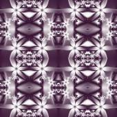 Flower pattern in fractal design. Violet and white palette. Comp — Stock Photo