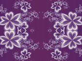 Flower pattern in fractal design. Purple palette. Artwork for cr — Stock Photo