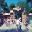 Abstract background. Pedestrians walking - rush hour in Barcelon — Stock Photo #70980791