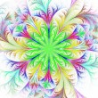 Beautiful multicolored fractal flower. Collection - frosty patte — Stock Photo #70981113