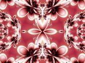 Kwiatki w fractal design. Grafika dla kreatywnych — Zdjęcie stockowe