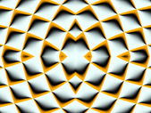Symmetrical fractal pattern. Collection - cells. Artwork for cre — Stock Photo