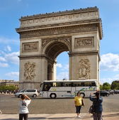 PARIS, FRANCE  - August 19, 2014.  Paris, France - famous Triump — Stock Photo