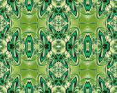 Flower pattern in fractal design. Green and Beige palette. Computer generated graphics. — Stock Photo