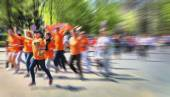 Abstract background. Marathon with the participation of disabled — Stock Photo