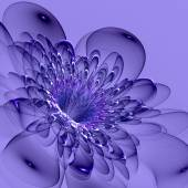 Beautiful blue flower on blue background. Computer generated gra — Stock Photo