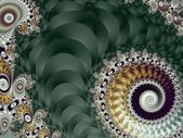 Beautiful Background with Spiral Pattern. Green and gray palette — Stock Photo