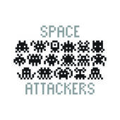 Space Attackers icons — Stock Vector