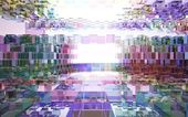 Abstract interior of colored glass blocks — Stock Photo