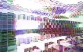 Abstrakte innere farbige Glassteine — Stockfoto