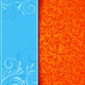 Invitation card with floral pattern. Vector eps-10. — Vector de stock
