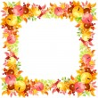 Vector frame with colorful autumn leaves. — Stock Vector #54817149