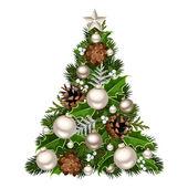圣诞树。矢量插画. — 图库矢量图片