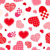 Seamless pattern with Valentine's day hearts. Vector illustration. — Stockvektor