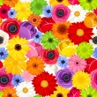 Seamless background with colorful flowers. Vector illustration. — Stock Vector #67632511