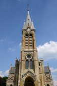 France, the church of Rambouillet in Les Yvelines — Stock Photo