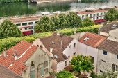 France, the picturesque city of Conflans Sainte Honorine — Stock Photo