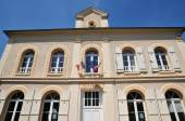 France, the city hall of Amenucourt — Stock Photo