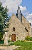 France, the historical church of Mondreville — ストック写真