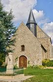 France, the historical church of Mondreville — Stock Photo