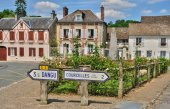 France, the picturesque village of  Boury en Vexin — Stock Photo