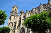 France, the historical collegiate church of Mantes la Jolie — Stock Photo