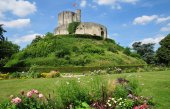 Historical castle of Gisors in Normandie — Stock Photo
