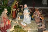 Picardie, the nativity scene in Saint Jean aux Bois church — Stock Photo