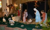 France, nativity scene in Triel sur Seine church — Stock Photo