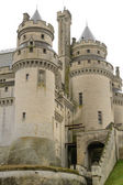 France, historical castle of Pierrefonds in Picardie — Stock Photo