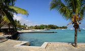 африка, живописная область la пуанта aux canonniers в mauritiu — Стоковое фото