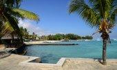 Africa, picturesque area of La Pointe Aux Canonniers in Mauritiu — Stockfoto