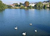 Ile de France, picturesque city of  Meulan — Stock Photo