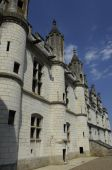 France, castle of Loches in Indre et Loire — Stock Photo