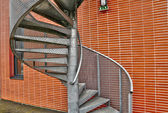 metal emergency  staircase in concern of Ile de France — Stock Photo