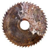 Old rusty circular saw blade   — Stock Photo