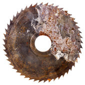 Old rusty circular saw blade   — Stock Photo