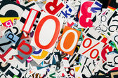 One hundred percent — Stock Photo