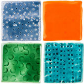 Handmade ceramic tiles — Stock Photo