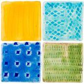 Handmade ceramic tiles — Stockfoto