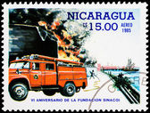 Post stamp from Nicaragua — Stock Photo