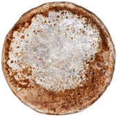 Rusty round metal plate — Stock Photo