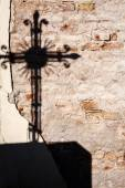 Shadow of a cross — Stock Photo