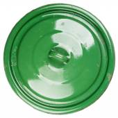 Old grungy green cooking pot lid  — Stock Photo