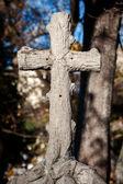 Old concrete cross — Stock Photo