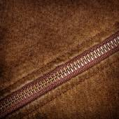 Zipper and suede — Stock Photo