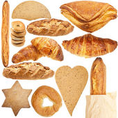 Collection of various fresh bakery — Stock Photo