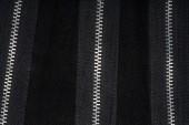 Zippers on fabric — Stock Photo